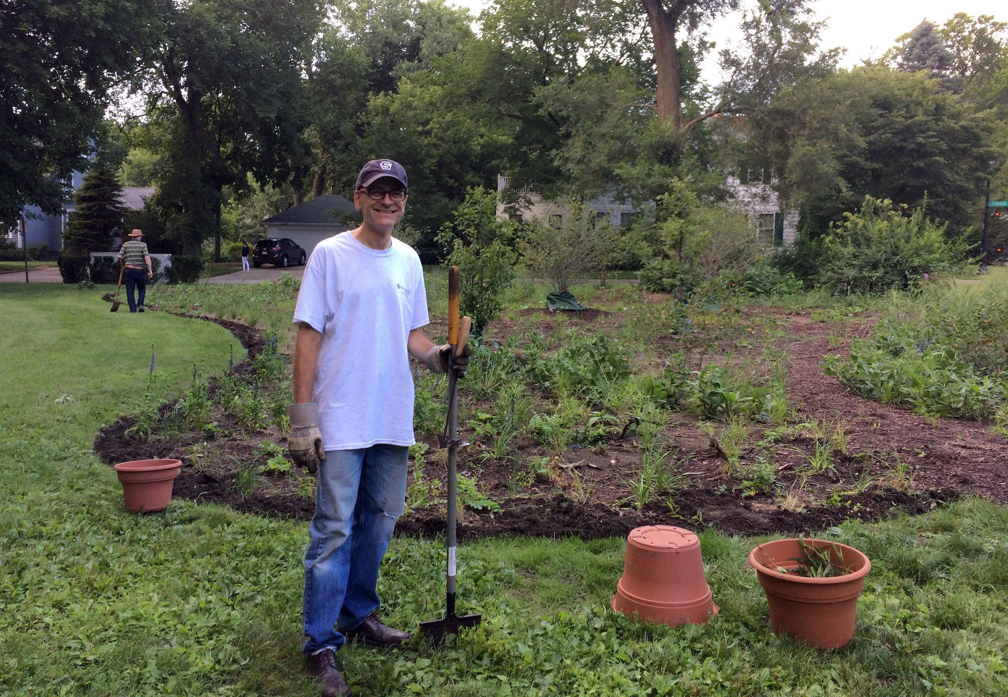Peter Glaser, organizer of the Civic Center garden neighborhood crew