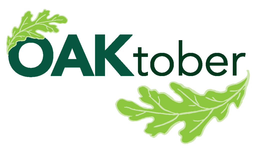 Oaktober logo from Chicago Region Trees Initiative