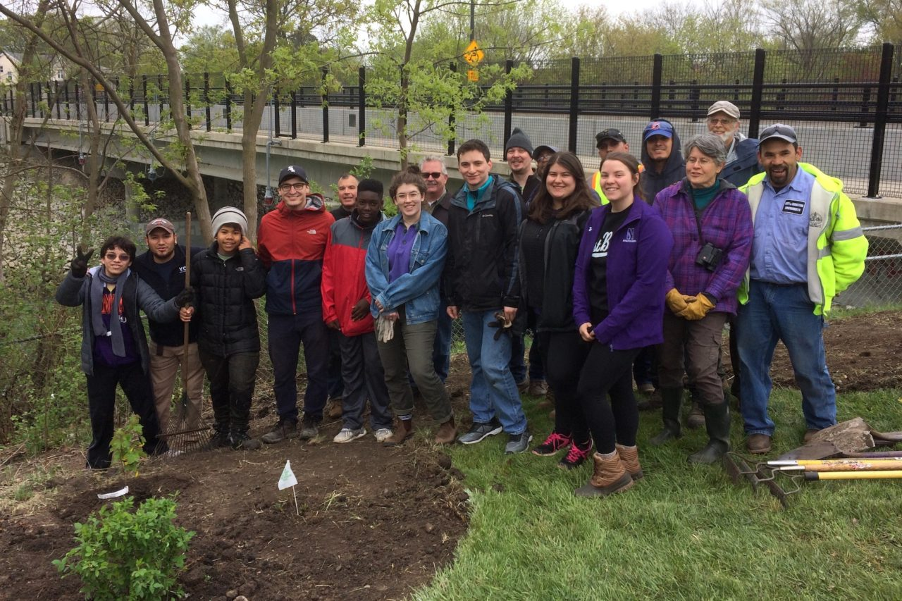 Volunteers & crew after planting at the Ladd Arboretum