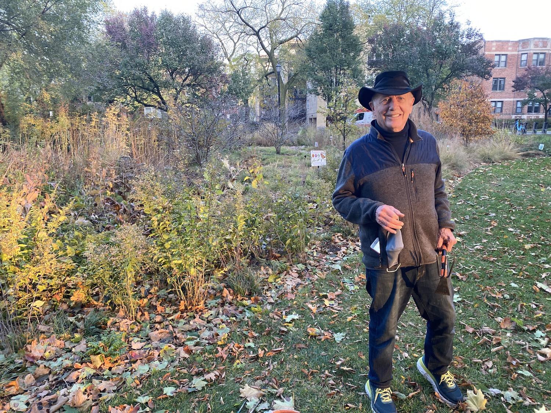 Doug Macdonald, steward of the Civic Center Habitat Garden